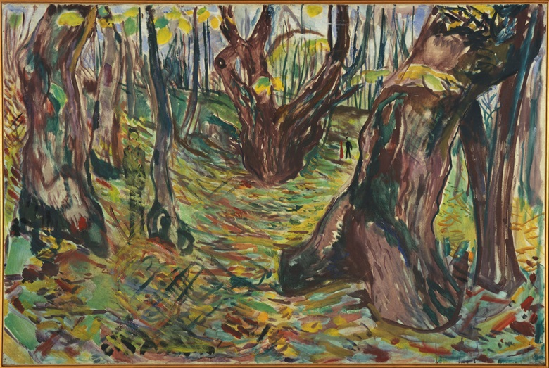 Edvard Munch, Rugged Tree Trunks, 1919-20. Oil on canvas, 100 x 150 cm. Photo Ove Kvavik, Munch Museum. All subsequent photography by Ivar Kvaal