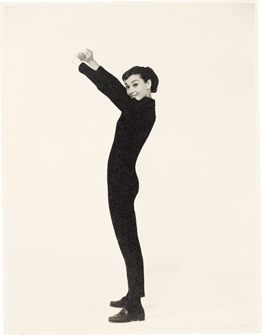 Funny Face, 1957 — Bud Fraker (1916-2002), Audrey Hepburn, circa 1956. Sheet 13 ¾ x 10 ¾  in (34.9 x 27.3  cm). Estimate £2,000-3,000. This lot is offered in Audrey Hepburn The Personal Collection on 27 September 2017  at Christie's in London