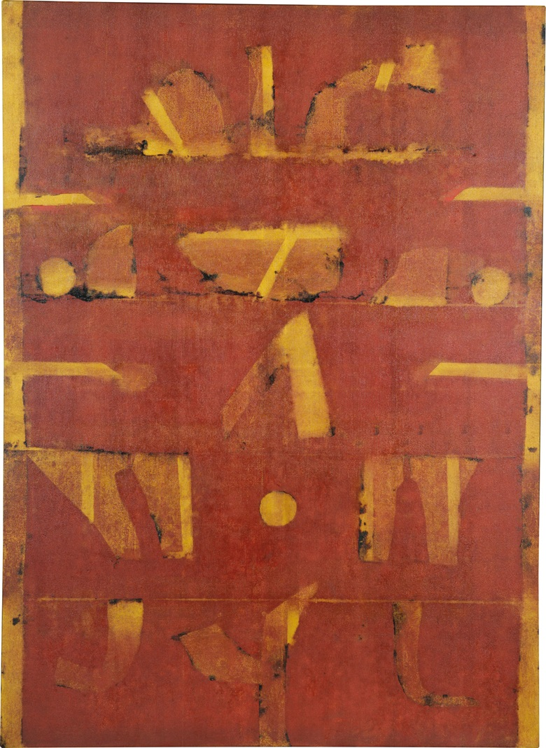 Vasudeo S. Gaitonde (1924-2001), Untitled, 1996. Oil on canvas, 55 x 40 in (139.7 x 101.6 cm). Estimate $2,800,000-3,500,000. This lot is offered in South Asian Modern + Contemporary Art on 13 September 2017 at Christie's in New York