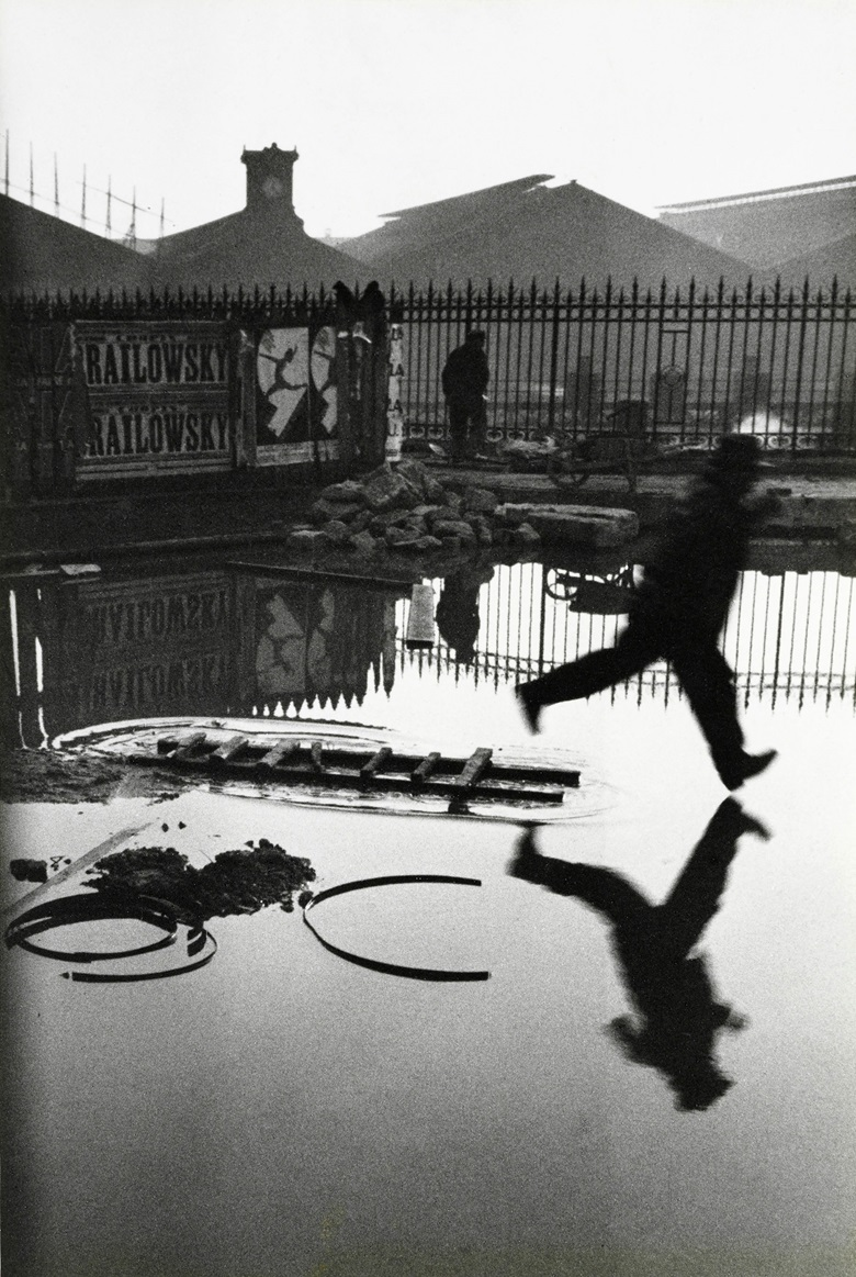 Henri Cartier-Bresson (1908-2004), Behind the Gare St. Lazare, Paris, 1932. Gelatin silver print, printed 1968. Titles, dates, numbered and variously annotated in pencil Checklist #136 (verso). Imagesheet 15¼ x 10¼ in (38.8 x 26.1 cm). This work was offered in MoMA Henri Cartier-Bresson, 5-11 October 2017, Online