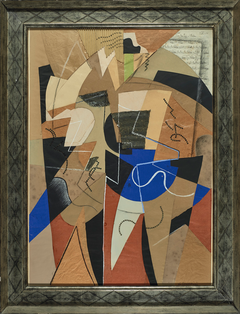 Gino Severini (1883-1966), Danseuse, executed circa 1914. 40 ½ x 28⅝  in (102.6 x 72.7  cm). Estimate $1,000,000-2,000,000. This lot is offered in the Impressionist & Modern Art Evening Sale on 13 November 2017  at Christie's in New York