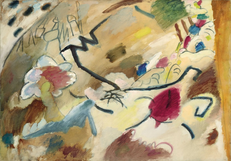 Wassily Kandinsky (1866-1944), Improvisation mit Pferden (Studie für Improvisation 20), painted in 1911. 28 x 39  in (71.1 x 99.1  cm). Estimate $9,000,000-15,000,000. This lot is offered in the Impressionist & Modern Art Evening Sale on 13 November 2017  at Christie's in New York