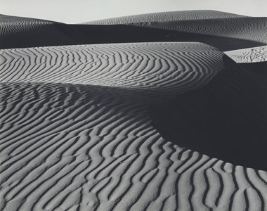Edward Weston (1886–1958), Dunes, Oceano, 1936. Mount 8½ x 10⅜  in (21.5 x 26.3  cm). Estimate $250,000-350,000. This lot is offered in Important Photographs from the Collection of Donald and Alice Lappé on 10 October 2017  at Christie's in New York © 2017 Center for Creative Photography, Arizona Board of Regents  Artists Rights Society (ARS), New York