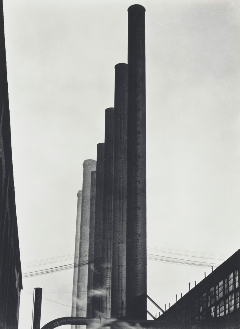 Edward Weston (1886–1958), Armco Steel, Middletown, Ohio, 1922. Mount 16 x 13¾  in (40.6 x 34.9  cm). Estimate $70,000-100,000. This lot is offered in Important Photographs from the Collection of Donald and Alice Lappé on 10 October 2017  at Christie's in New York. © 2017 Center for Creative Photography, Arizona Board of Regents  Artists Rights Society (ARS),