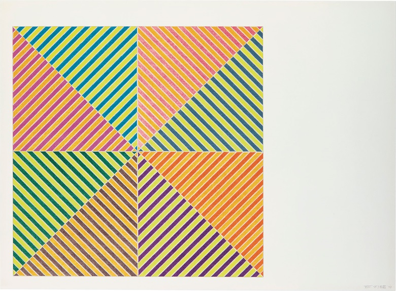 Frank Stella (b. 1936), Sidi Ifni, 1973. Image & sheet 22 x 30 in (558 x 762 mm). Estimate $2,000-3,000. This lot is offered in Contemporary Edition, 12-21 September 2017, Online