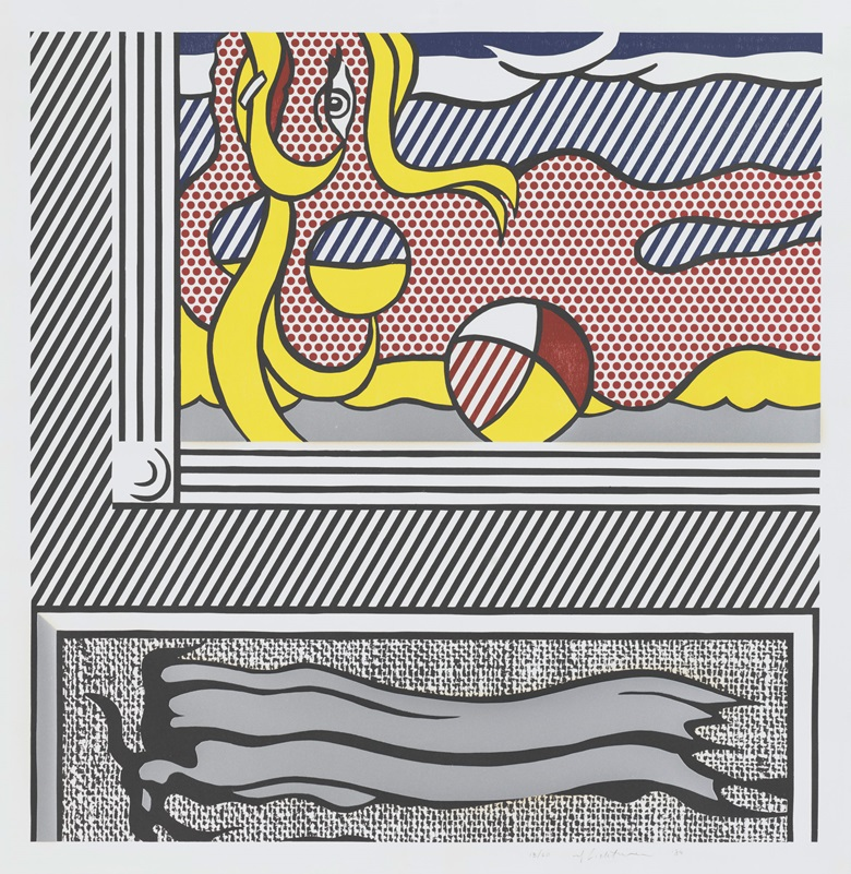 Roy Lichtenstein (1923-1997), Two Paintings Beach Ball, from Paintings. Image 37 x 36 in (940 x 914 mm), sheet 40 x 39 in (1016 x 991 mm). Estimate $20,000-30,000. This lot is offered in Contemporary Edition, 12-21 September 2017, Online
