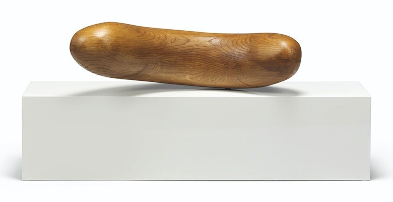 Claudia Comte (b.  1983), Flips 2, 2013. Oak and metal on car-lacquered MDF, 15¾ x 35½ x 11 in (40 x 90.1 x 28 cm). Estimate £5,000-7,000. This lot is offered in First Open on 15 September 2017 at Christie's in London
