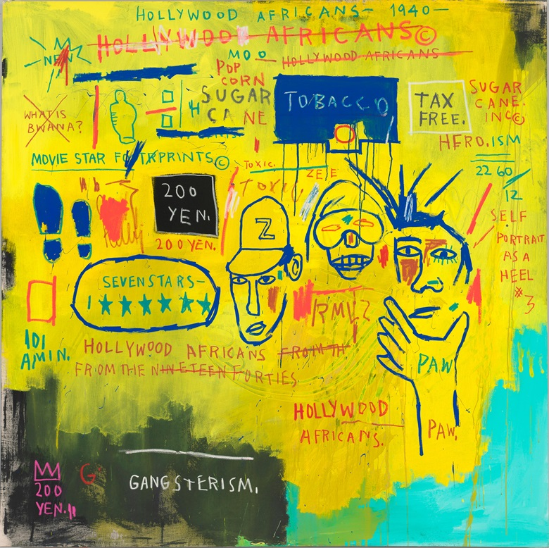 Jean-Michel Basquiat, Hollywood Africans, 1983. Courtesy Whitney Museum of American Art, New York. © The Estate of Jean-Michel Basquiat  Artists Rights Society (ARS), New York ADAGP, Paris. Licensed by Artestar, New York