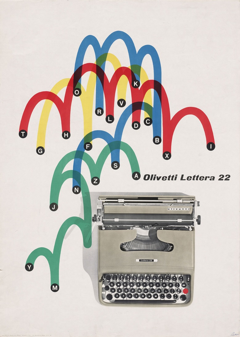Giovanni Pintori's 1953 poster for the Olivetti Lettera 22. Photo The Museum of Modern Art, New YorkScala Florence