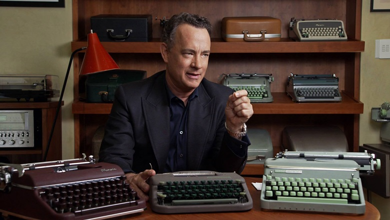 Tom Hanks has since built up one of the great typewriter collections. His typewriter-themed collection of fiction, Uncommon Type Some Stories, is to be published in October. He is pictured here in the documentary California Typewriter, which is released later this year. Photo courtesy of American Buffalo Pictures