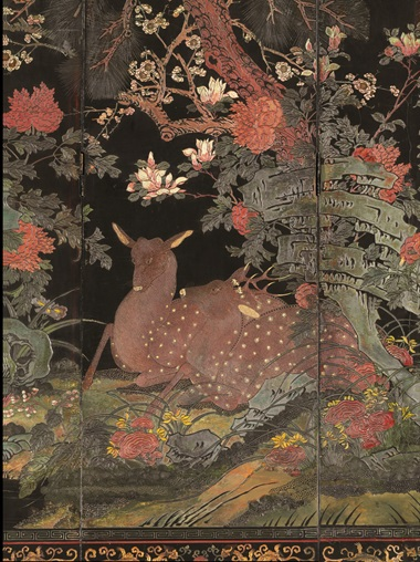 The deer are an auspicious symbol of longevity