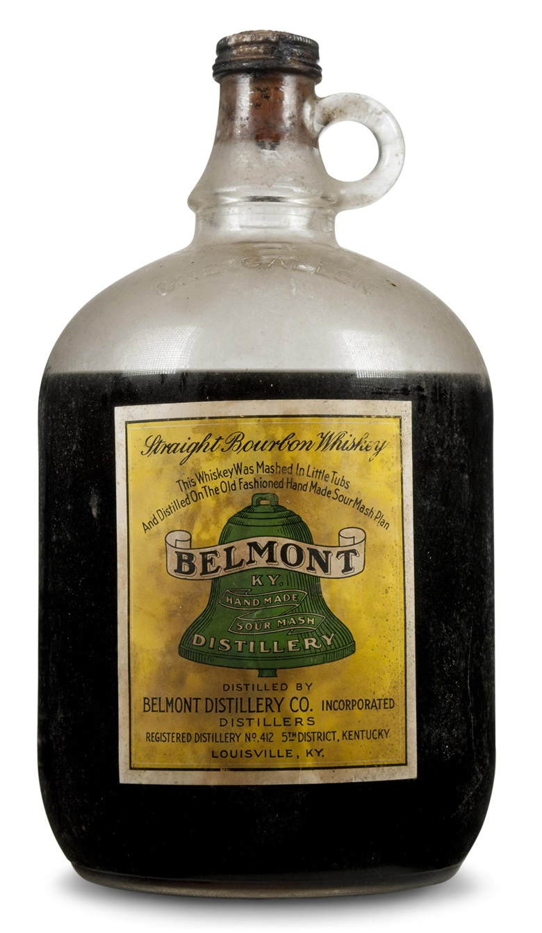 Belmont Bourbon 1900. One gallon per lot (Lots 307-311). Estimates $5,000-7,000. These lots are offered in Christie's Wine OnlineNYC, 26 September to 10 October