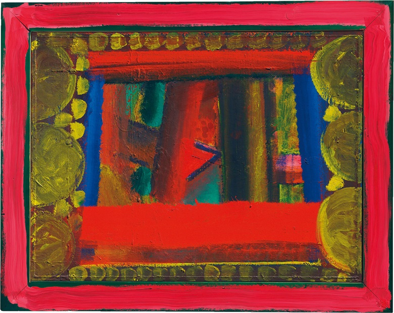 Howard Hodgkin (1932-2017), The Green Château, 1976-1980. 38⅝ x 48⅜ in (98 x 123 cm). Estimate £500,000-700,000. This lot is offered in Post-War and Contemporary Art Evening Auction on 6 October 2017  at Christie's in London