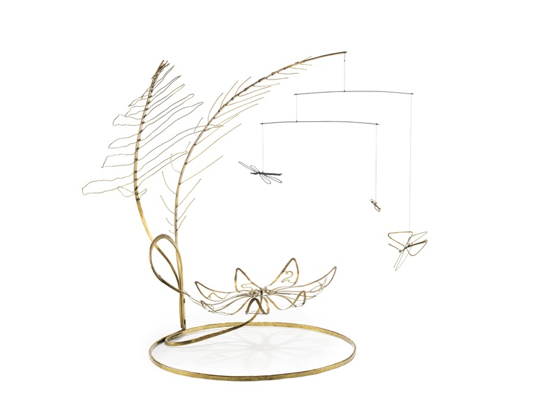 Alexander Calder (1898-1976), Calderoulette, circa 1941. Standing mobile — brass, wire and nylon thread. 20¾ x 27 x 17 in (52.7 x 68.5 x 43 cm). Estimate $3,200,000-3,800,000. This work is offered in the Post-War and Contemporary Art Evening Sale on 15 November at Christies in New York © 2017 Calder Foundation, New York  Artists Rights Society (ARS), New York