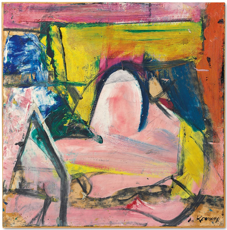 Willem de Kooning (1904-1997), Composition I, painted in 1955. 23 x 22¾  in (58.4 x 57.7  cm). Estimate $4,000,000-6,000,000. This lot is offered in Post-War & Contemporary Art Evening Sale on 15 November 2017  at Christie's in New York