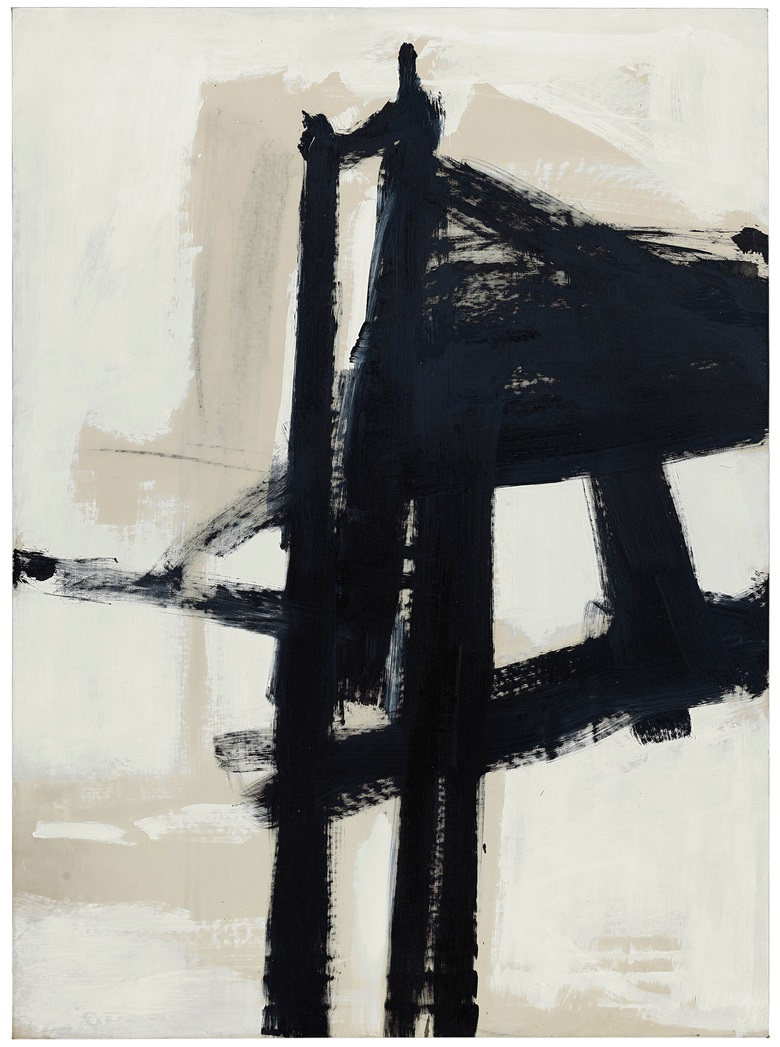 Franz Kline (1910-1962), Light Mechanic, painted in 1960. 92 x 67⅝  in (233.6 x 171.7  cm). Estimate on request. This lot is offered in Post-War & Contemporary Art Evening Sale on 15 November 2017  at Christie's in New York