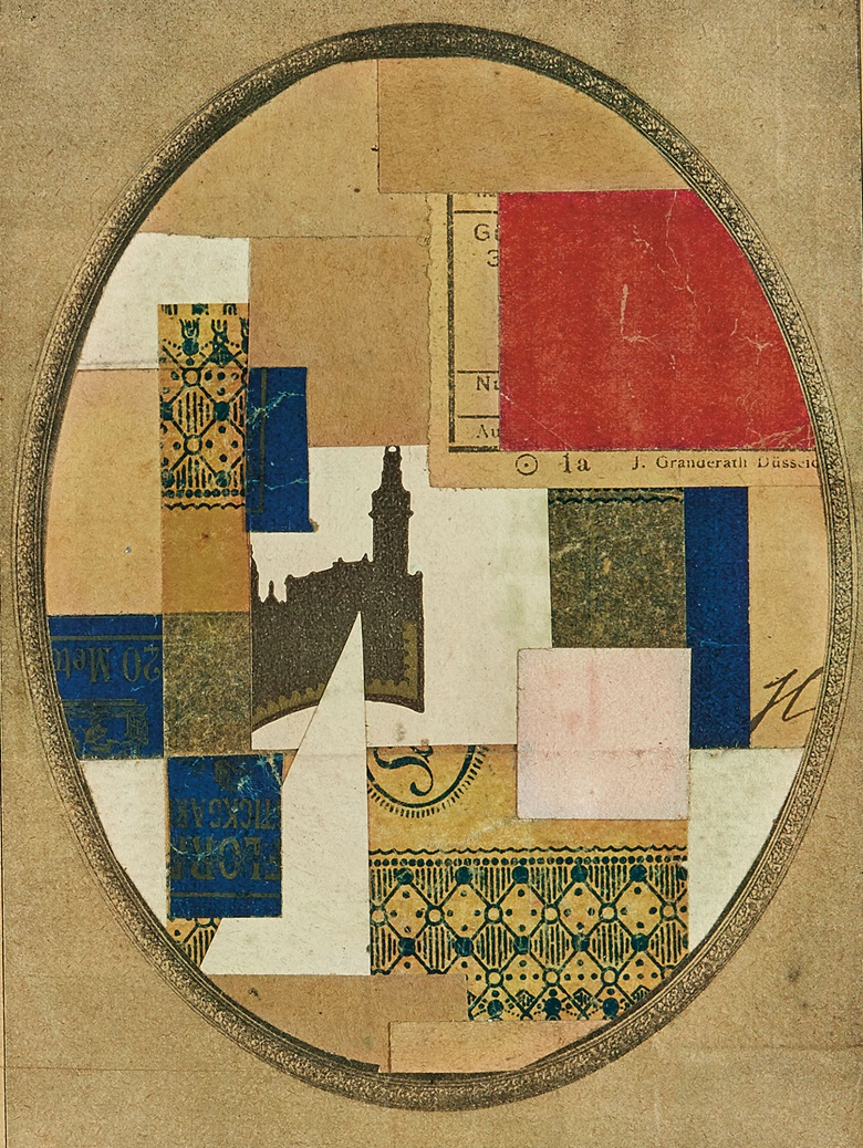 Kurt Schwitters (1887-1948), Mz 491, 1922. Paper collage on paper laid down on paper. 6 x 4⅛ in (15 x 10.4 cm). Estimate $50,000-80,000. This work is offered in the Impressionist & Modern Art Day Sale on 14 November at Christie's in New York
