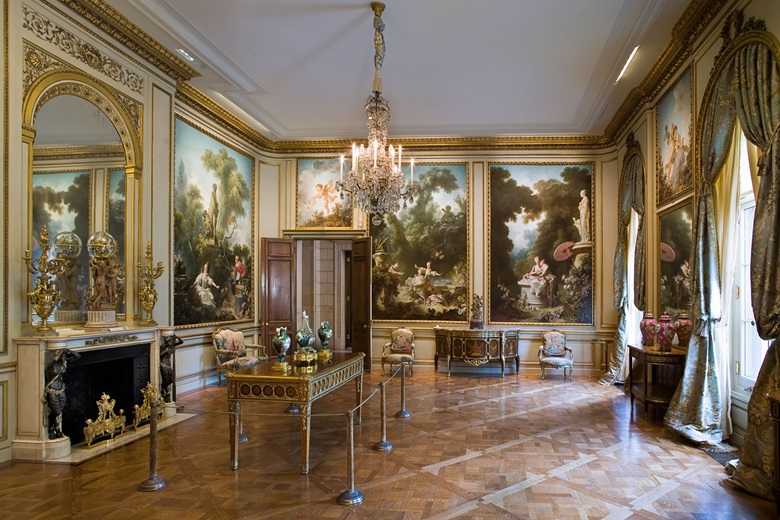 The Fragonard Room, The Frick Collection, New York. Photo Michael Bodycomb