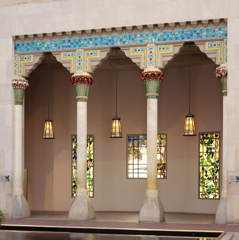 Architectural elements from Laurelton Hall, Oyster Bay, New York, designed by Louis Comfort Tiffany, at The Metropolitan Museum of Art in New York