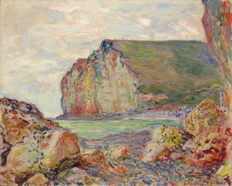 Claude Monet (1840-1926), Falaises des Petites-Dalles, 1884. 23⅝ x 28¾  in (59.6 x 73  cm). Estimate HK$12,000,000-18,000,000. This lot is offered in Dear Monsieur Monet on 26 November at Christie's in Hong Kong