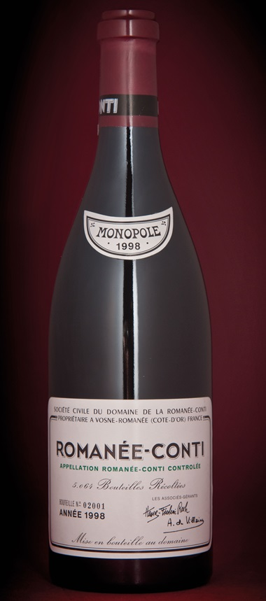 In May 2014, this single bottle of Domaine de la Romanée-Conti, Romanée Conti 1998 from The Collection of Sir Alex Ferguson CBE realised HK$159,250 against an estimate of HK$75,000-85,000