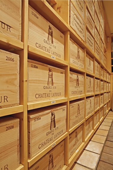 The ultimate, all-but risk-free consignment, says Tam, is a collection of ex-château wines, direct from the producer's cellar