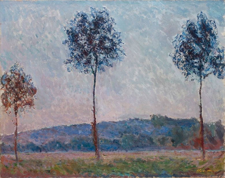 Claude Monet (1840-1926), Trois arbres à Giverny (Peupliers), painted in 1887. 28¾ x 36⅜  in (73.1 x 92.4  cm). Estimate HK$15,000,000-25,000,000. This lot is offered in Dear Monsieur Monet on 26 November at Christie's in Hong Kong