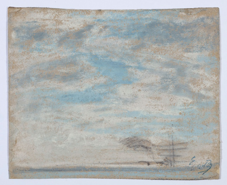 Eugène Boudin (1824-1898), Étude de ciel, executed between 1858 and 1865. 4¾ x 5¾  in (11.8 x 14.6  cm). Estimate HK$120,000-180,000. This lot is offered in Dear Monsieur Monet on 26 November at Christie's in Hong Kong