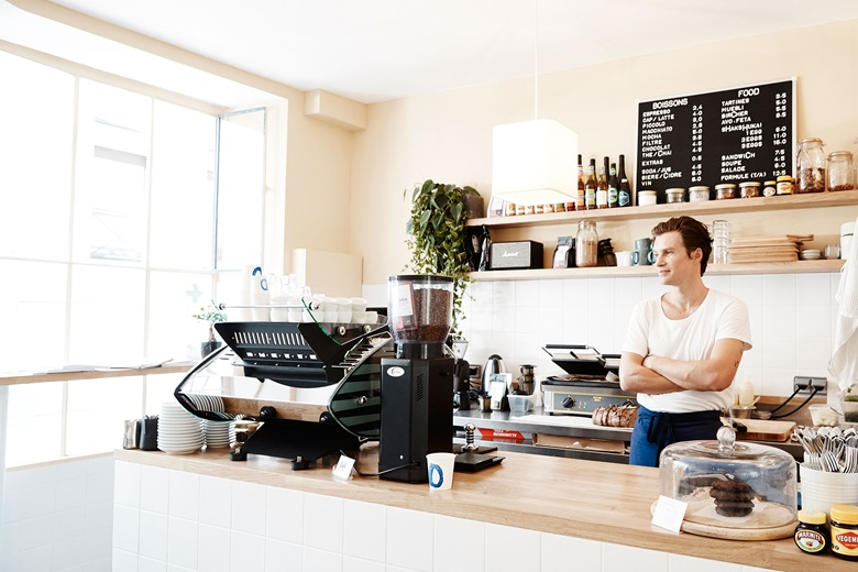 Andrew Bonacina of Hepworth Wakefield recommends the coffee and eggs at Café Oberkampf in the Marais. Photo Molly S J Lowe