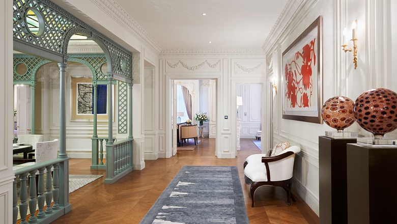 The Historic Suite at the Peninsula Hotel, an official partner of the fair and home to its own collection of contemporary art