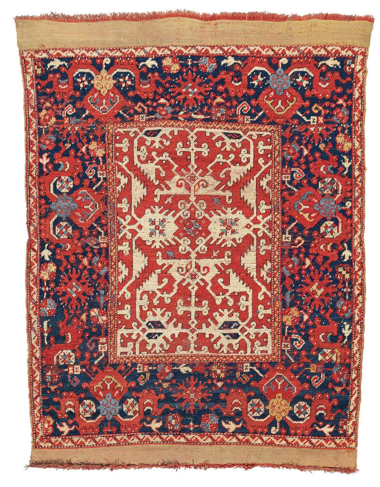 A Lotto Rug Probably Ushak West Anatolia Late 17th Century 5 Ft