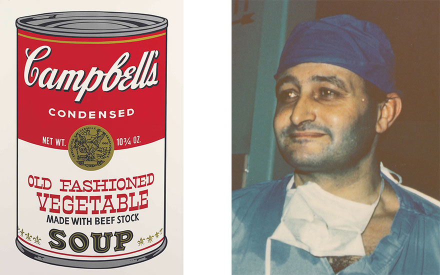 Left Andy Warhol (1928-1987), Old Fashioned Vegetable, from Campbells Soup II. Sheet 35 x 23  in (889 x 584  mm). Estimate $18,000-25,000. This lot is offered in Prints and Multiples on 24-25