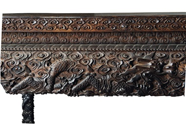A magnificent and rare large Zitan waisted dragon table, 18th-19th century. 31⅞  in (81  cm) high; 61  in (155  cm) long; 29 ¾  in (75.5  cm) deep. Estimate £40,000-60,000. This lot is offered in Fine Chinese Ceramics & Works of Art on 7 November at Christie's in London