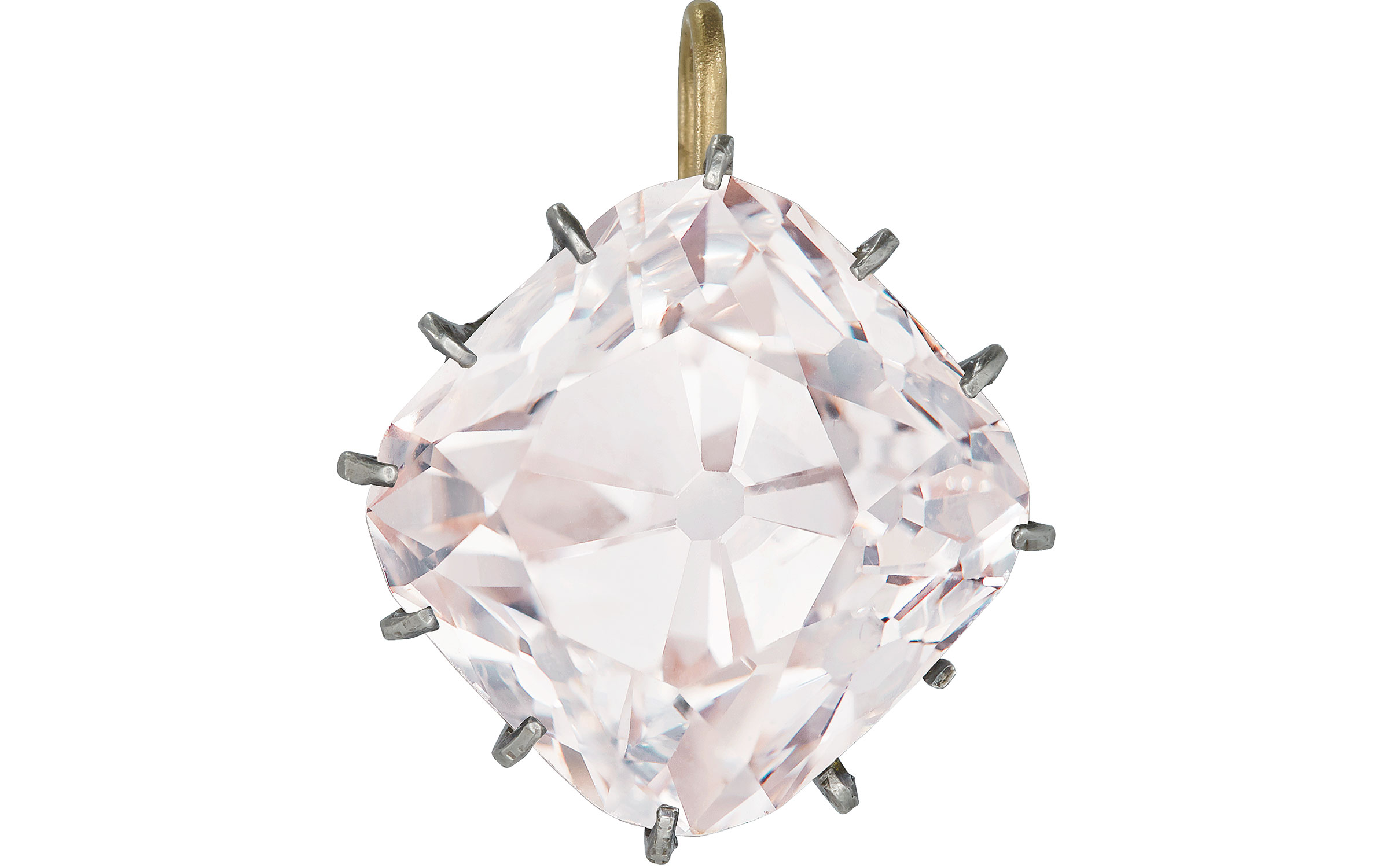 Le Grand Mazarin an historic coloured diamond, accompanied by Report no. 5182785154 dated 4 October 2017 from the GIA Gemological Institute of America stating that the diamond is light pink colour, VS2 clarity, and diamond type classification letter stating that the diamond has been determined to be type IIA. Estimate on request. This lot is offered in Magnificent Jewels on 14 November 2017  at