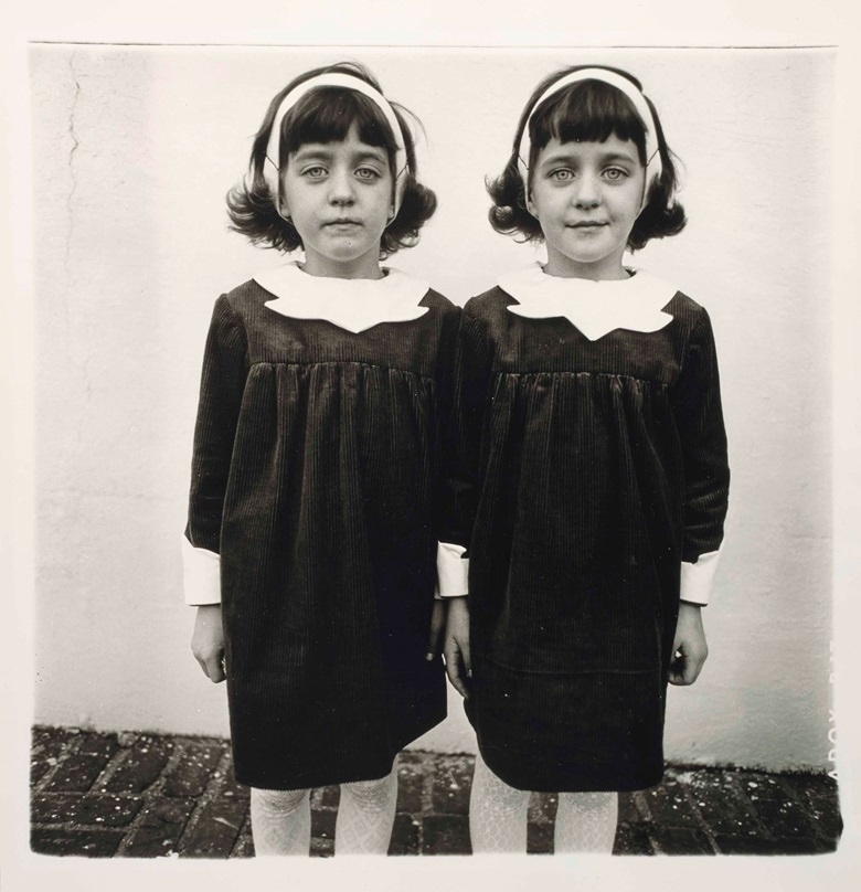Diane Arbus (1923-1971), Identical Twins, Roselle, N.J., 1966. 50.7 x 40.8  cm (20 x 16⅛  in). Estimate €400,000-600,000. This lot is offered in Stripped Bare Photographs from the Collection of Thomas Koerfer on 9 November at Christie's in Paris
