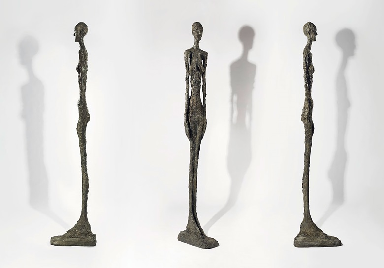 Alberto Giacometti (1901-1966), Grande femme II, conceived in 1960; this bronze cast in 1980-81 in an edition of 7 plus 2 artists proofs plus one for the Fondation Maeght. Height 276.5  cm. Sold for €24,907,500 on 19 October 2017 at Christie's in Paris