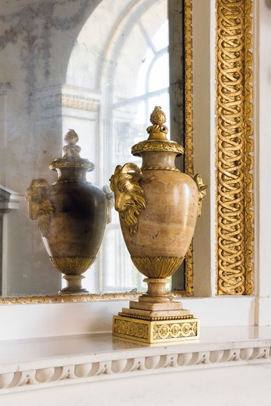 A pair of late Louis XV ormolu-mounted alabaster vases, circa 1770-75. 18  in (45.5  cm) high; 8¾  in (22.5  cm) wide; 6½  in (16.5  cm) deep. Estimate £20,000-30,000. This lot is offered in The Collector European Furniture, Works of Art & Ceramics  on 15 November 2017  at Christie's in London