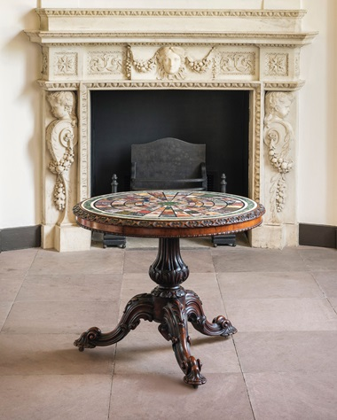 A William IV rosewood and specimen marble centre table, circa 1835. 28¼  in (72  cm) high; 34 in (86  cm) diameter. Estimate £8,000-12,000. This lot is offered in The Collector English Furniture, Clocks & Works of Art on 15 November 2017  at Christie's in London