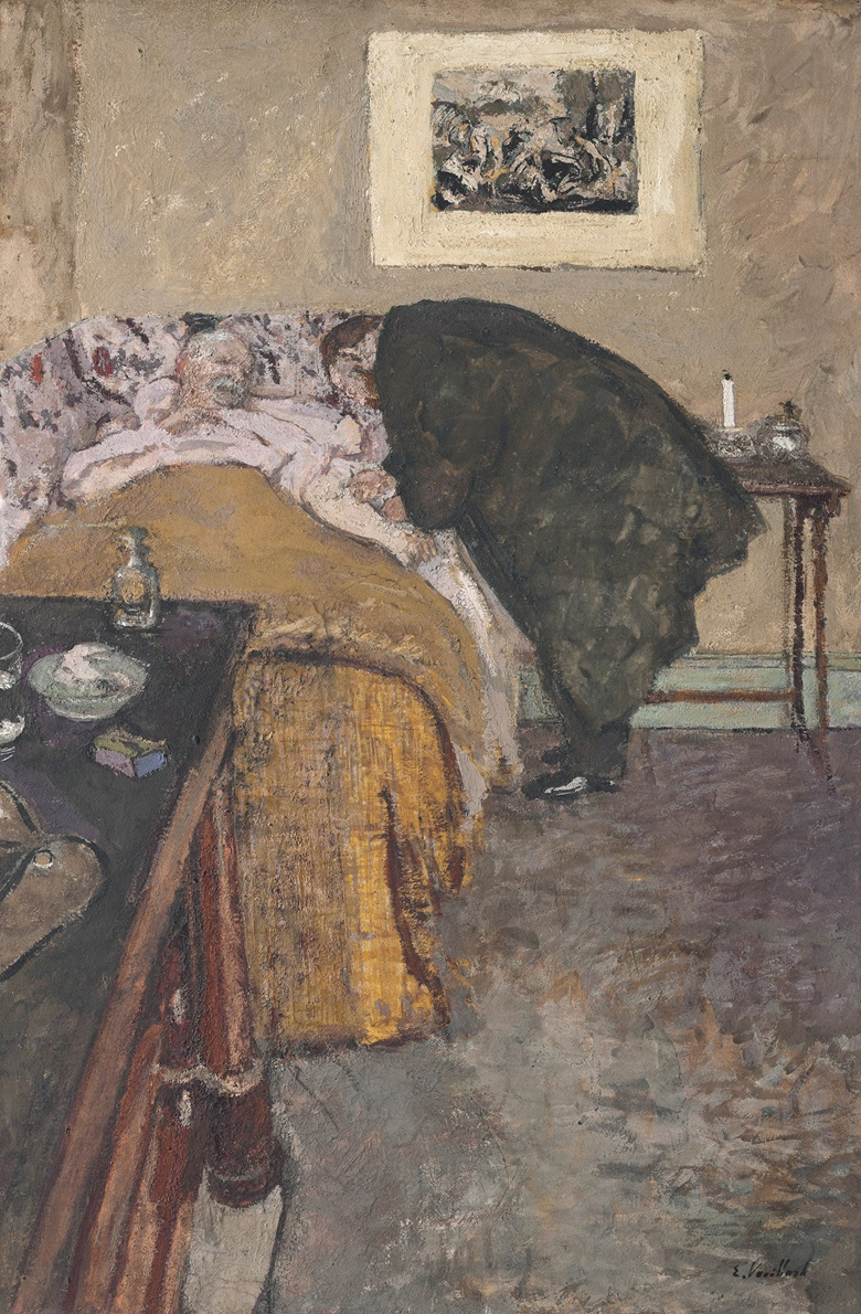 Édouard Vuillard, La Consultation, 1922. Oil on card laid down on canvas. 27 x 17⅞ in (68.6 x 45.4 cm). Estimate $200,000-300,000. This lot is offered on 14 November in the Impressionist and Modern Art Day Sale at Christies in New York