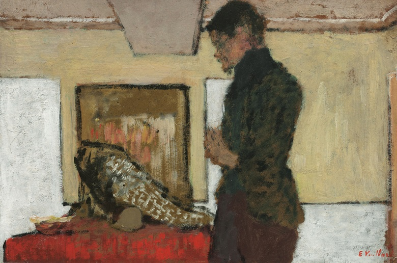 Édouard Vuillard (1868-1940), Le peintre Maximilien Luce dans son atelier, circa 1899. Oil on board. 9⅞ x 14⅞ in (25.1 x 37.9 cm). Estimate $180,000-250,000. This work is offered in the Impressionist and Modern Art Day Sale on 14 November at Christie's in New York