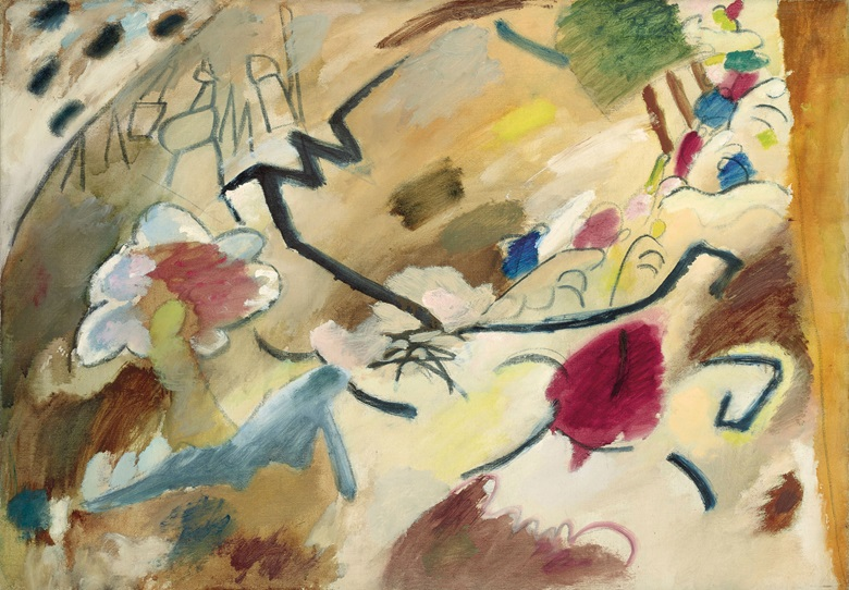 Wassily Kandinsky (1866-1944), Improvisation mit Pferden, 1911. Oil on canvas. 28 x 39 in (71.1 x 99.1 cm). Estimate $9,000,000-15,000,000. This work is offered in the Impressionist and Modern Art Evening Sale on 13 November at Christie's in New York
