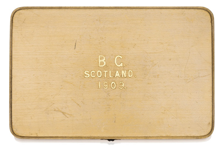 The significance of the inscriptions Scotland and 1909 intrigued our specialists