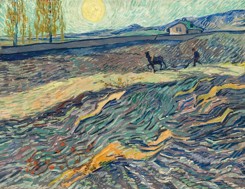Vincent van Gogh (1853-1890), Laboureur dans un champ, painted in Saint Rémy, early September 1889. 19⅞ x 25 ½  in (50.3 x 64.9  cm). Sold for $81,312,500 in the Impressionist & Modern Art Evening Sale on 13 November 2017  at Christie's in New York