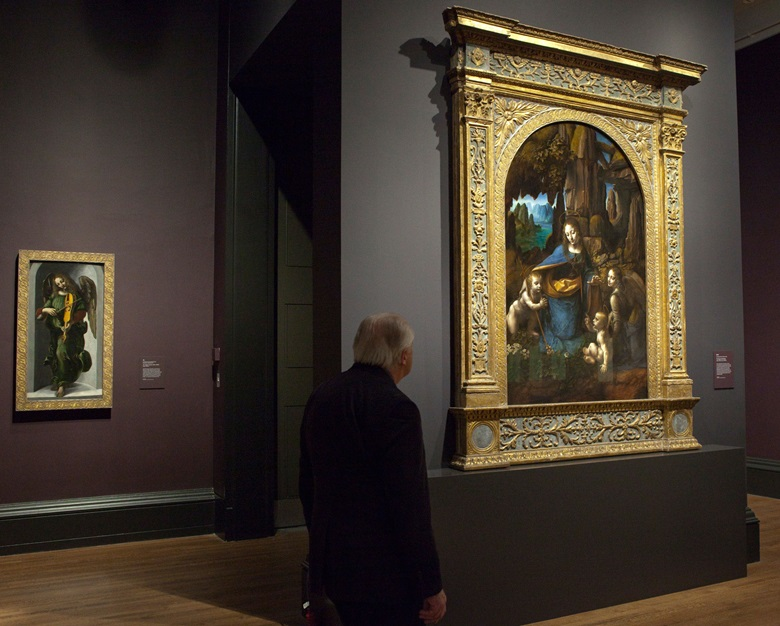 Salvator Mundi  is included in the landmark 2011-12 exhibition Leonardo da Vinci Painter at the Court of Milan at the National Gallery in London © National Gallery, London