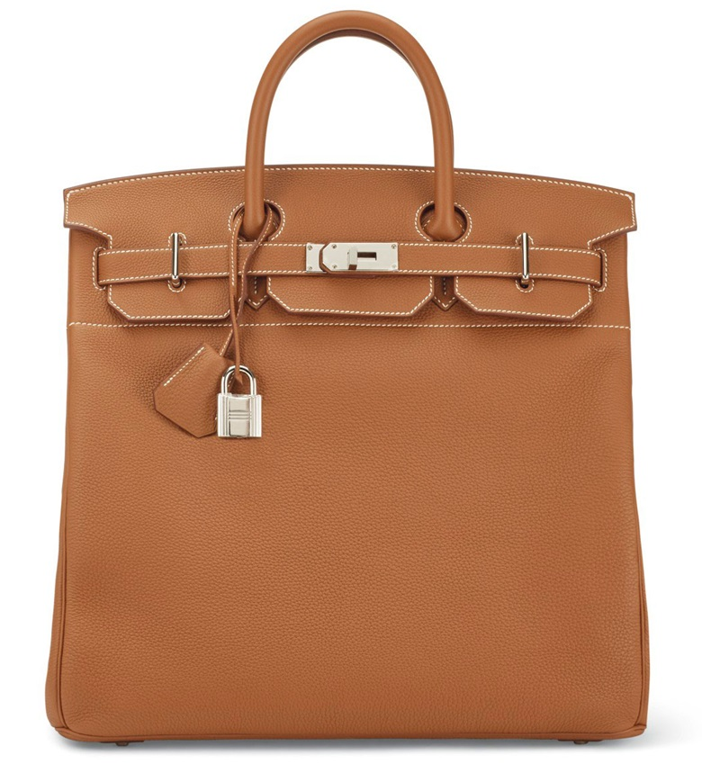 A Gold Togo Hac Birkin with palladium hardware, Hermès, 2017. This bag was offered in Handbags & Accessories on 12 December at Christie's in Paris and sold for €6,875