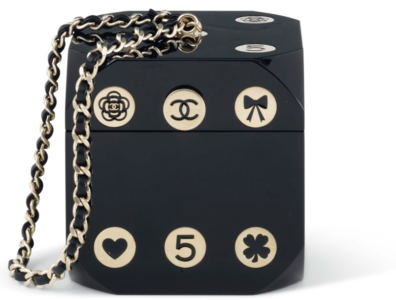 A Casino Runway Collection black lucite Dice evening bag. Chanel, 2016. Estimate €4,000–6,000. This lot is offered in Sacs & Accessoires on 12 December at Christies in Paris