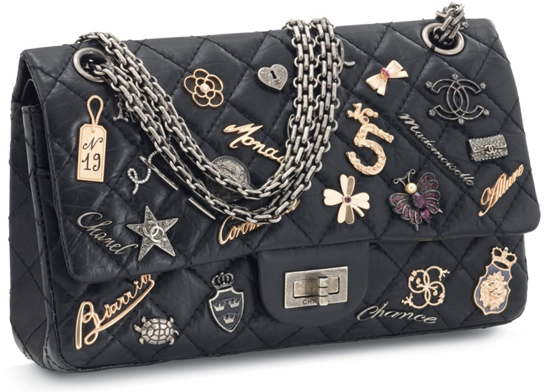 A Limited Edition Black Calfskin Leather 2 55 Lucky Charm Double Flap With Aged Silver Hardware Chanel 2006 08 This Lot Was Offered In Sacs Accessoires