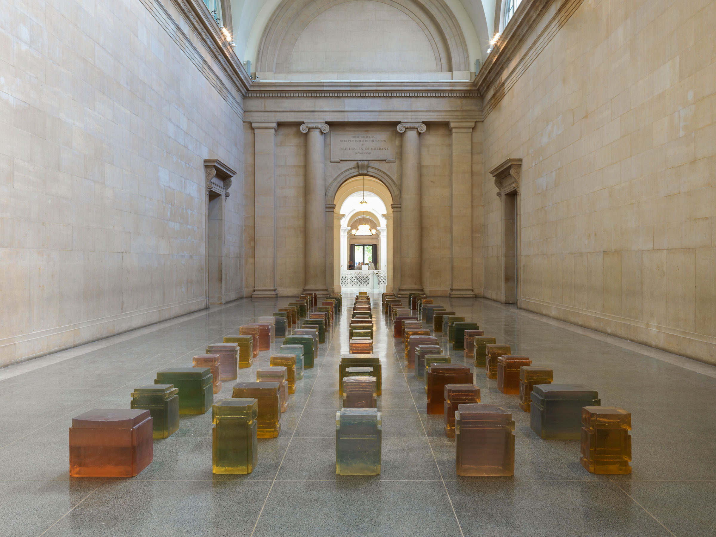 Rachel Whiteread, Untitled (One Hundred Spaces), 1995, Resin, Various dimensions. Pinault Collection © Rachel Whiteread. Photo © Tate (Seraphina Neville and Andrew Dunkley). Tate Britain celebrates 25 years of Whiteread's sculpture
