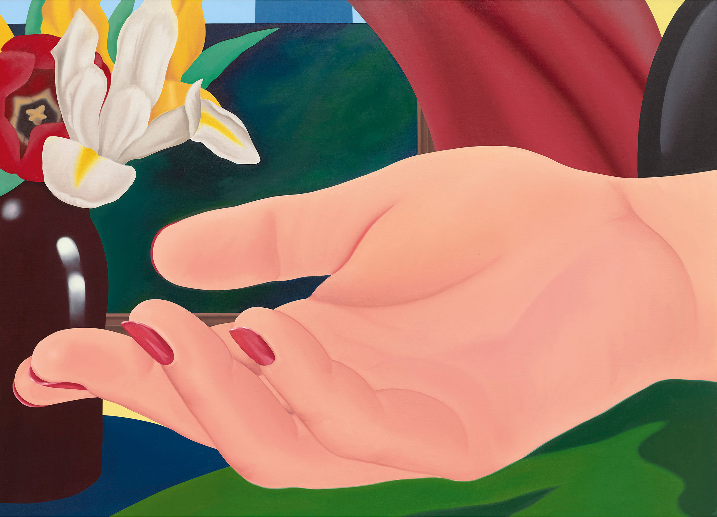 Tom Wesselmann, Ginas Hand, 1972-1982. Oil on canvas, 149.9 × 208.3 cm (59 × 82 in), on view at Gagosian Davies Street