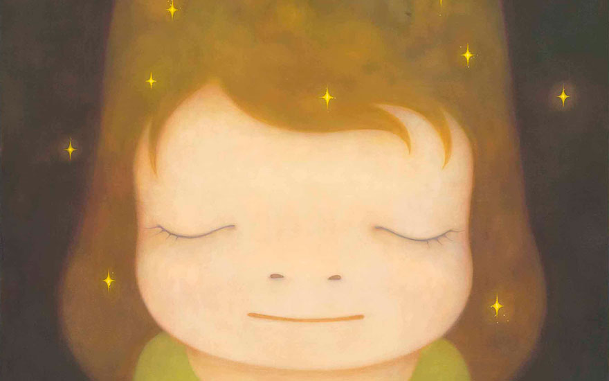Yoshitomo Nara (b. 1959), The Little Star Dweller, painted in 2006. 89½ x 71⅝  in (227.3 x 181.3  cm). Sold for $3,413,000 on 9 November 2015  at Christie's in New York